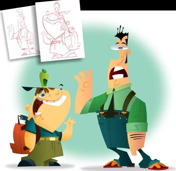 Cartoonsmart Character Design : 《卡通角色设计教程》 cartoon smart character design iso 视频教程下载